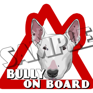 bullterier car sticker