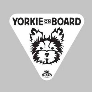 yorkie car sticker