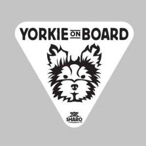 yorkie car sticker