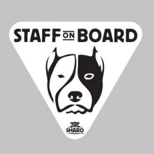 staff dog sticker
