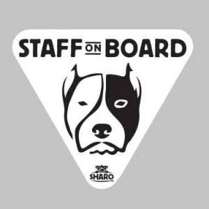 staff dog sticker