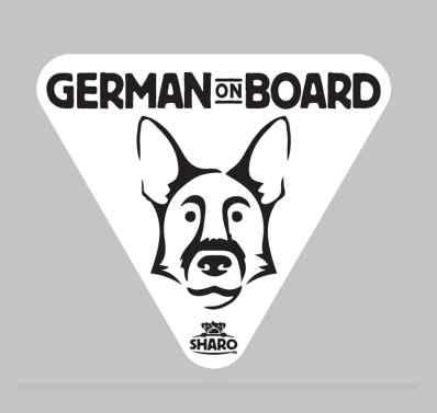 german shepard sticker